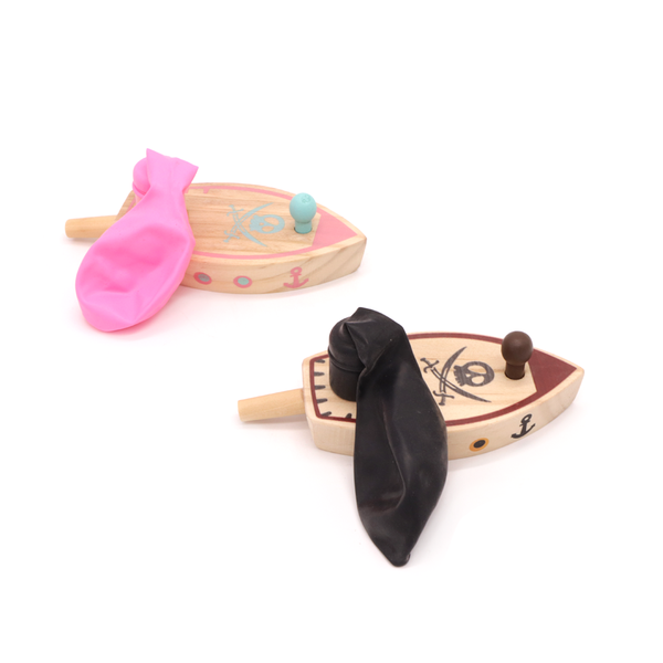 Wooden Balloon Boat Assorted
