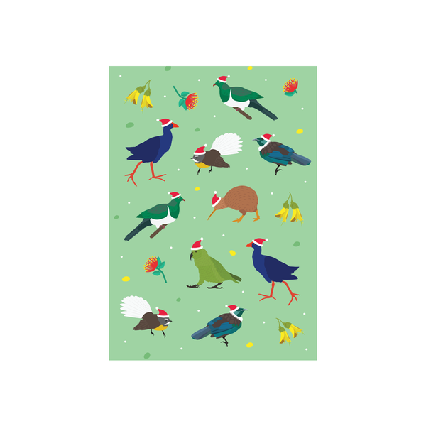 Iko Iko Christmas Card Animal Pattern NZ Bird