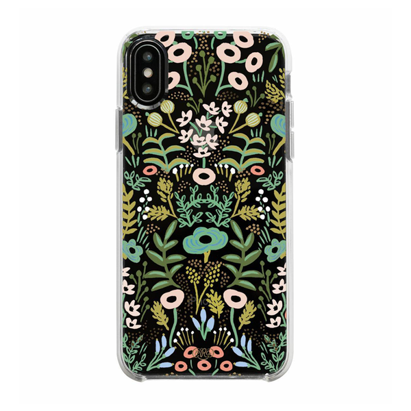 Rifle Paper Co. iPhone X/XS Hard Case Clear Tapestry