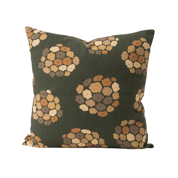 Citta Hydrangea Cushion Cover Nori Multicolour