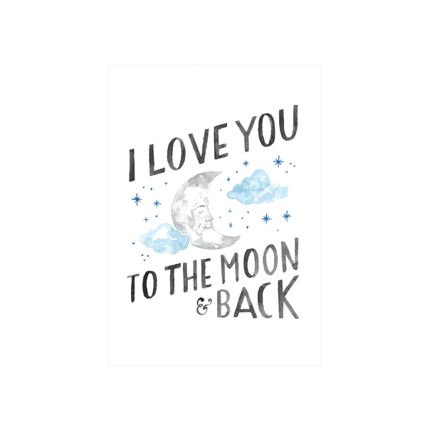 Steer Illustrations X Iko Iko Card Moon and Back