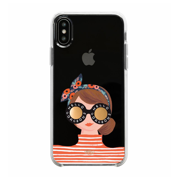Rifle Paper Co. iPhone XR Hard Case Hello Gorgeous