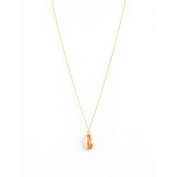 Stella + Gemma Necklace Coffee Bean Seashell Gold