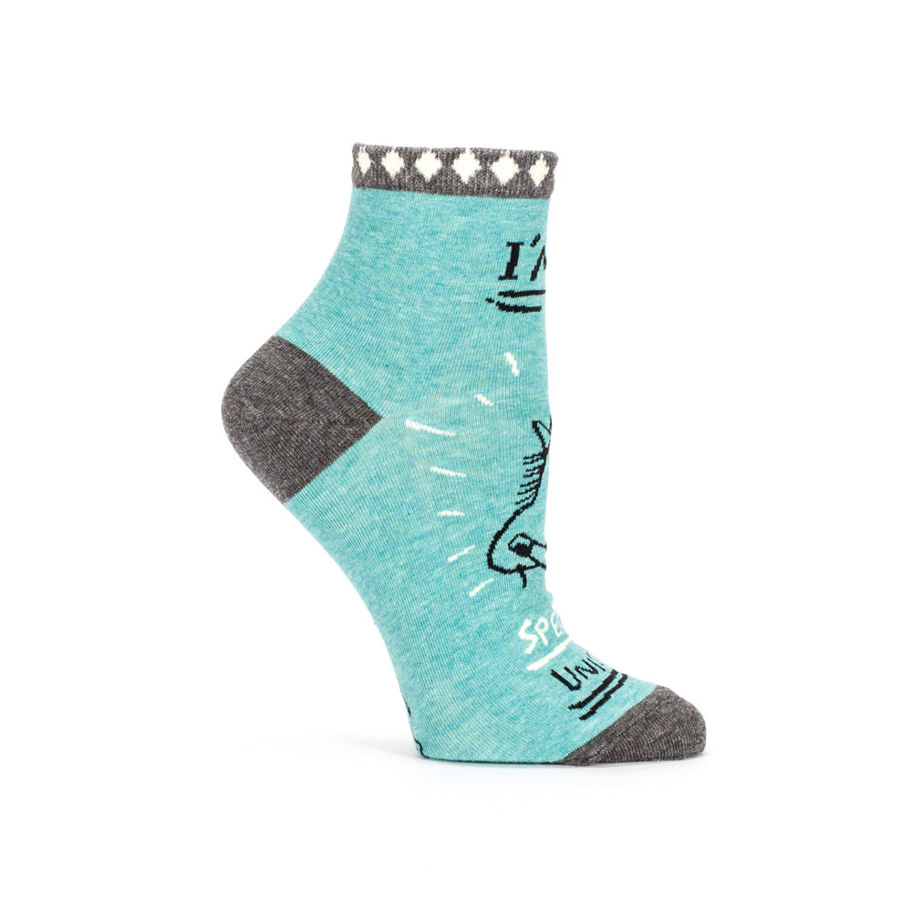 Blue Q Socks Womens Ankle Socks Special Unicorn