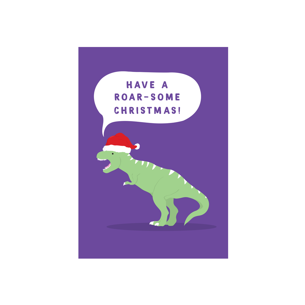 Iko Iko Christmas Card Cutie Animal Pun Roarsome