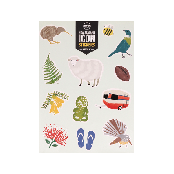 100% NZ New Zealand Icons Stickers