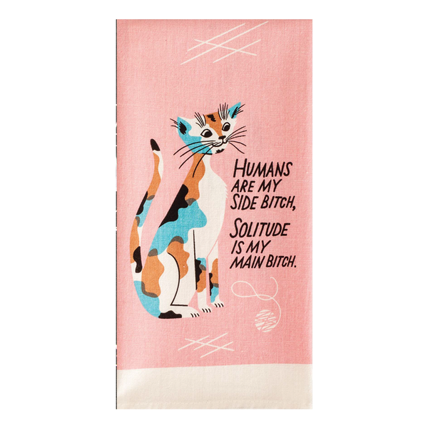 Blue Q Tea Towel Humans Are My Side Bitch