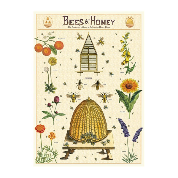Cavallini Poster Bees and Honey