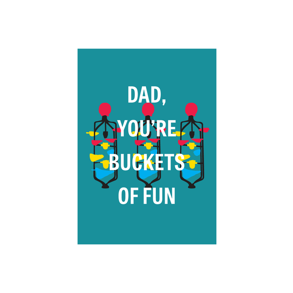 Iko Iko Father's Day Card Buckets