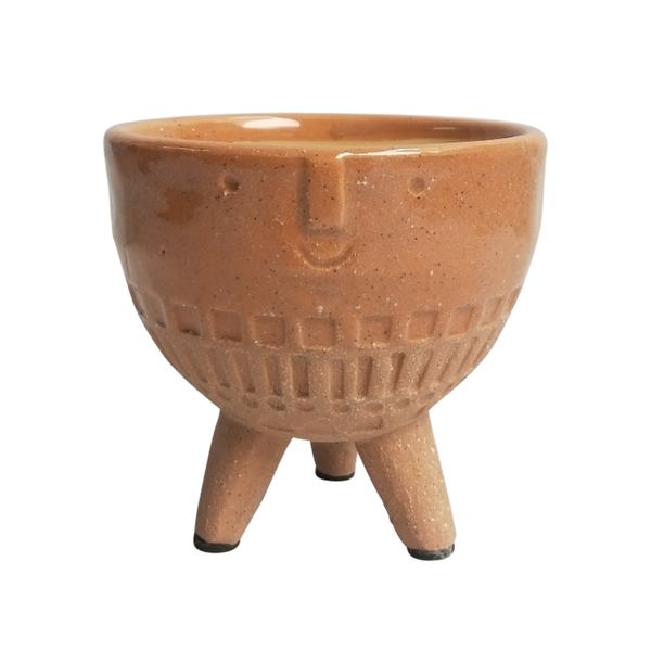 Round Face Planter on Legs Terracotta Medium