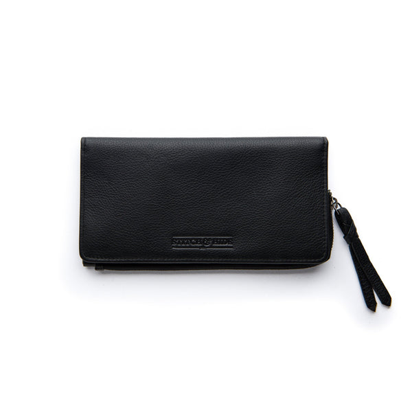 Stitch & Hide Leather Slimline Wallet Penni Black