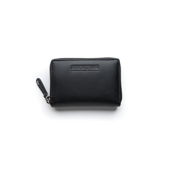 Stitch & Hide Leather Card Wallet Hunter Black