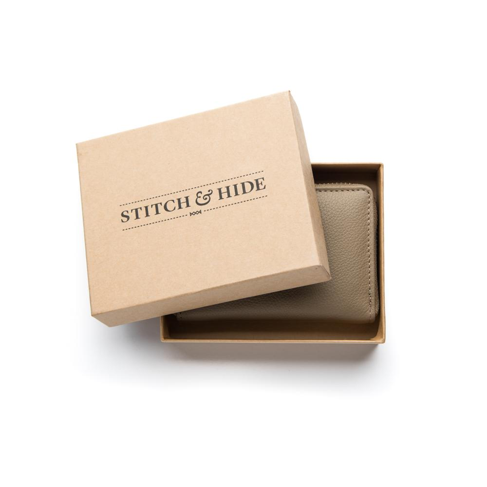 Stitch & Hide Leather Card Wallet Hunter Dusty Linen