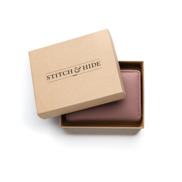 Stitch & Hide Leather Card Wallet Hunter Dusty Rose