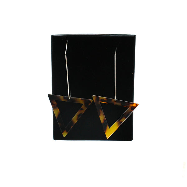 Penny Foggo Earrings Tortoiseshell Triangle