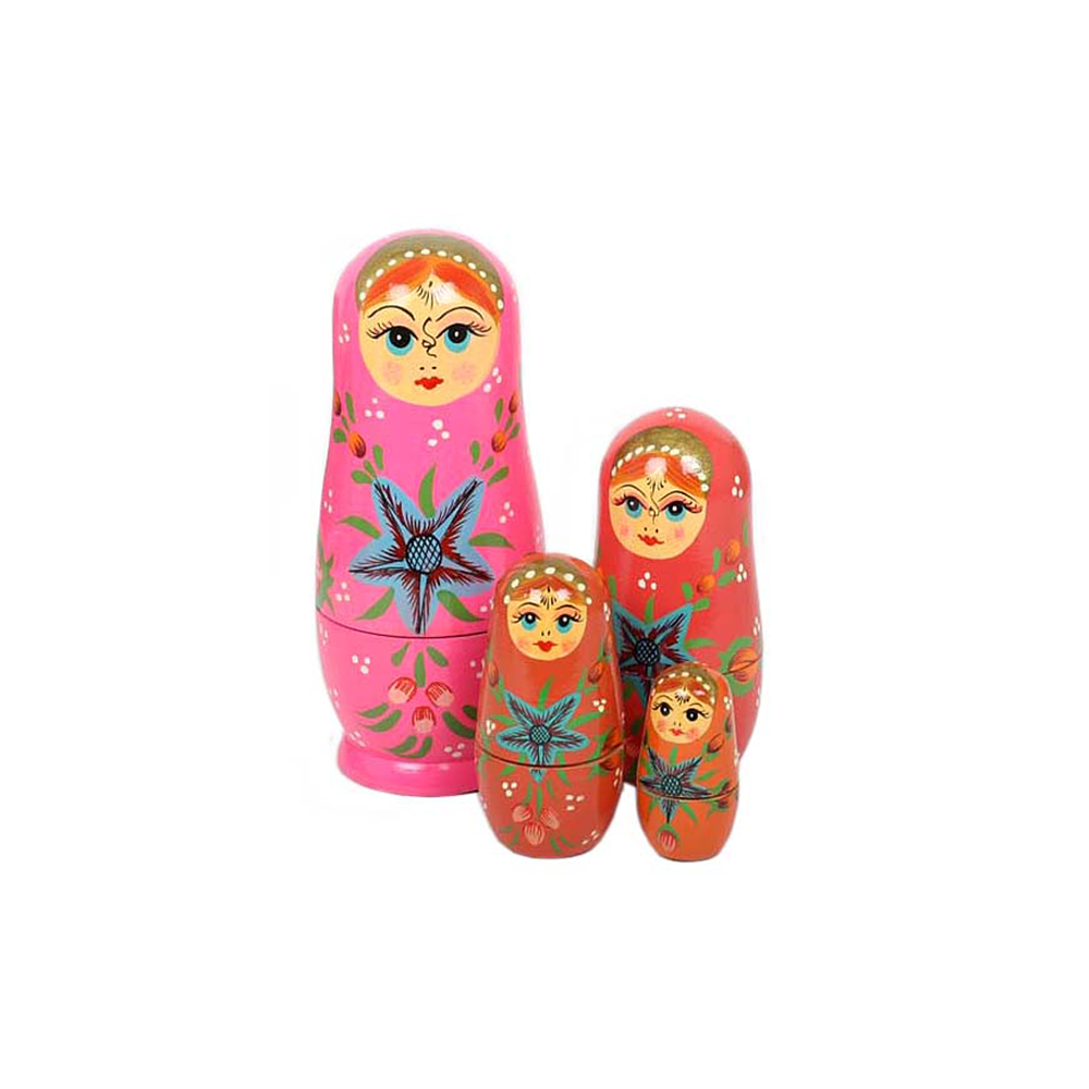 Nesting Dolls Pink Set of 5