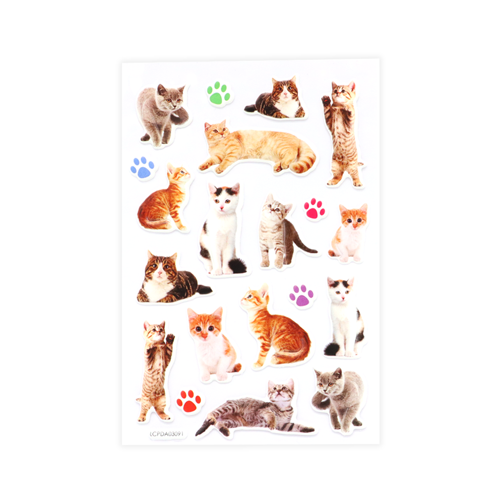Cats Puff Stickers