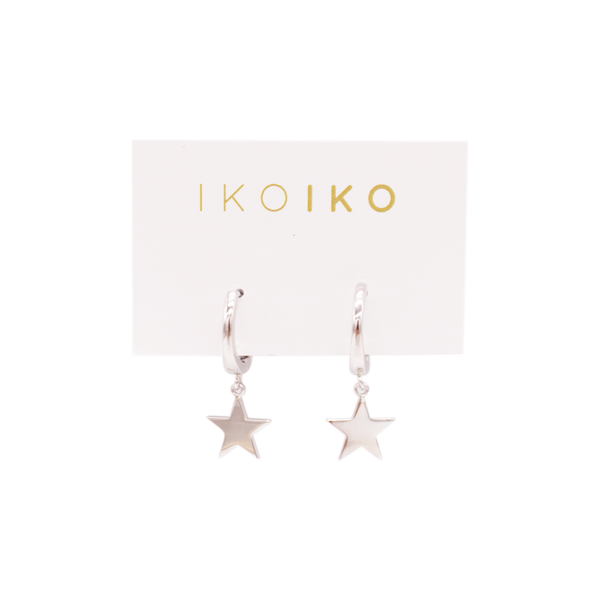 Iko Iko Earrings Mini Hoop with Star