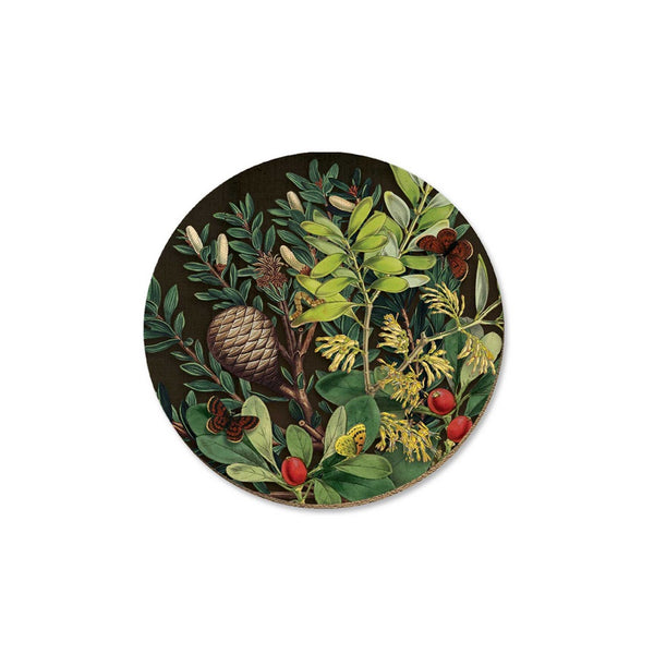 New Zealand Coaster Pinecone and Berries