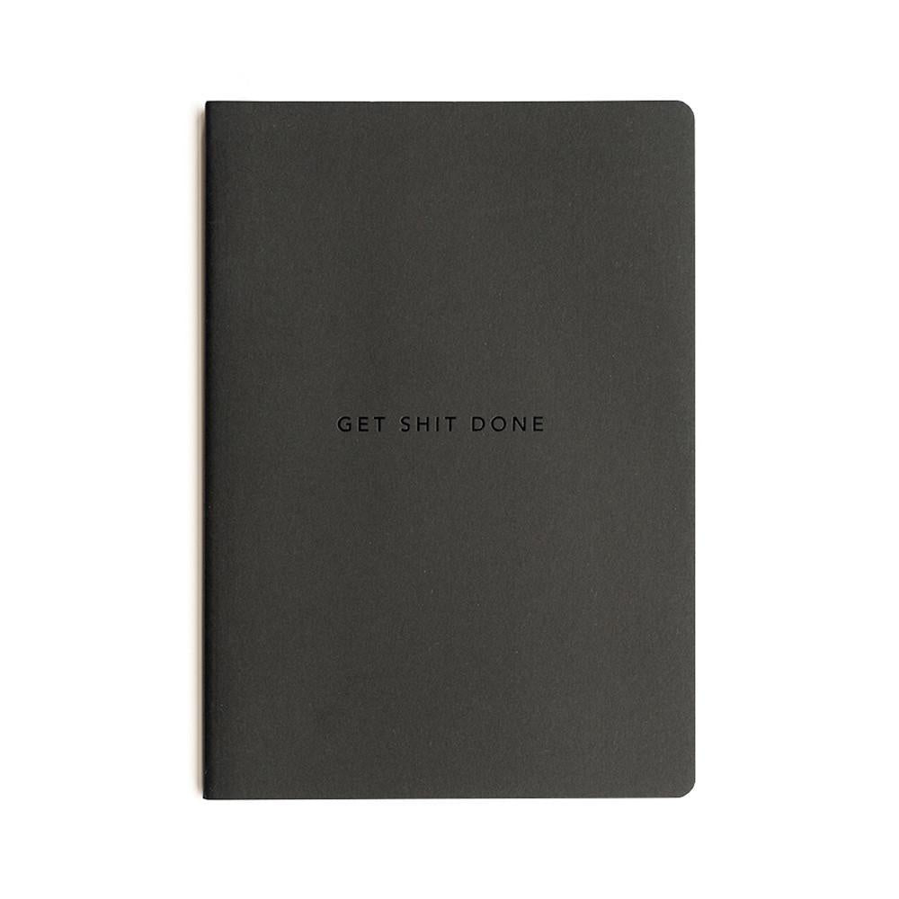 Mi Goals Get Shit Done Notebook Minimal A5