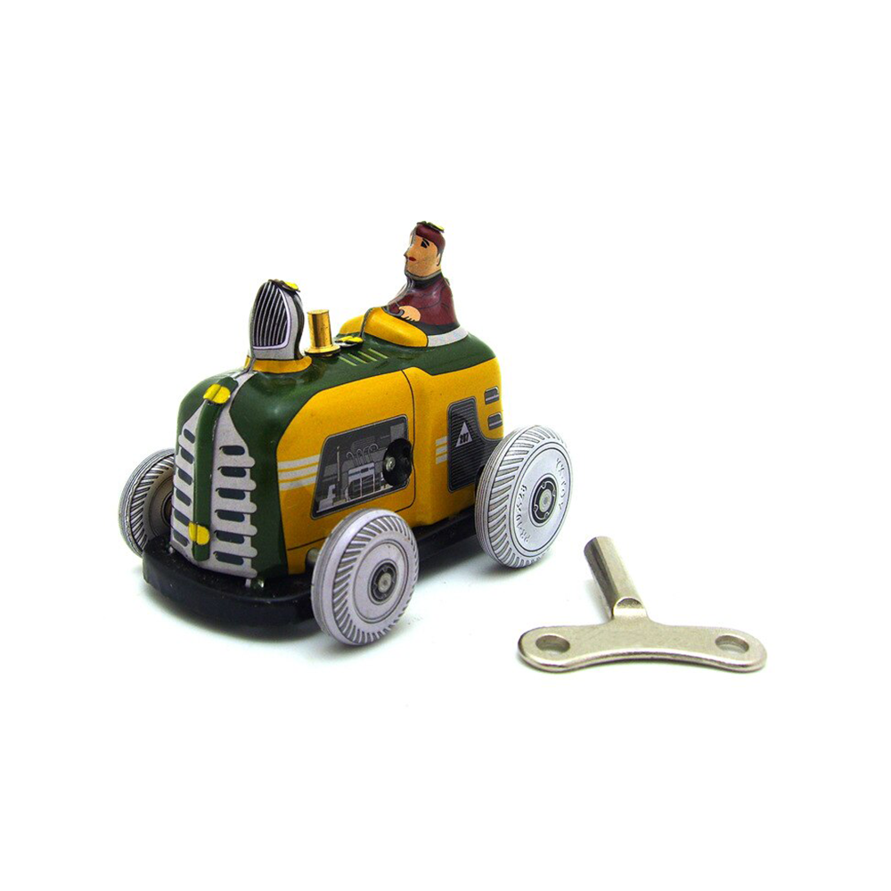 Tin Wind Up Tractor