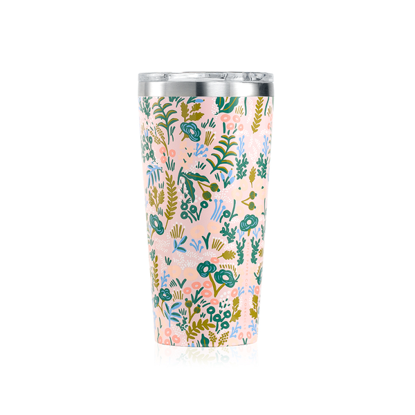 Corkcicle x Rifle Paper Co. Tumbler 16oz Pink Tapestry