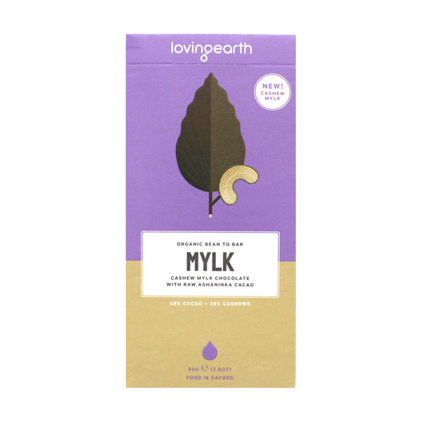 Loving Earth Raw & Organic Chocolate 80g Cashew Mylk