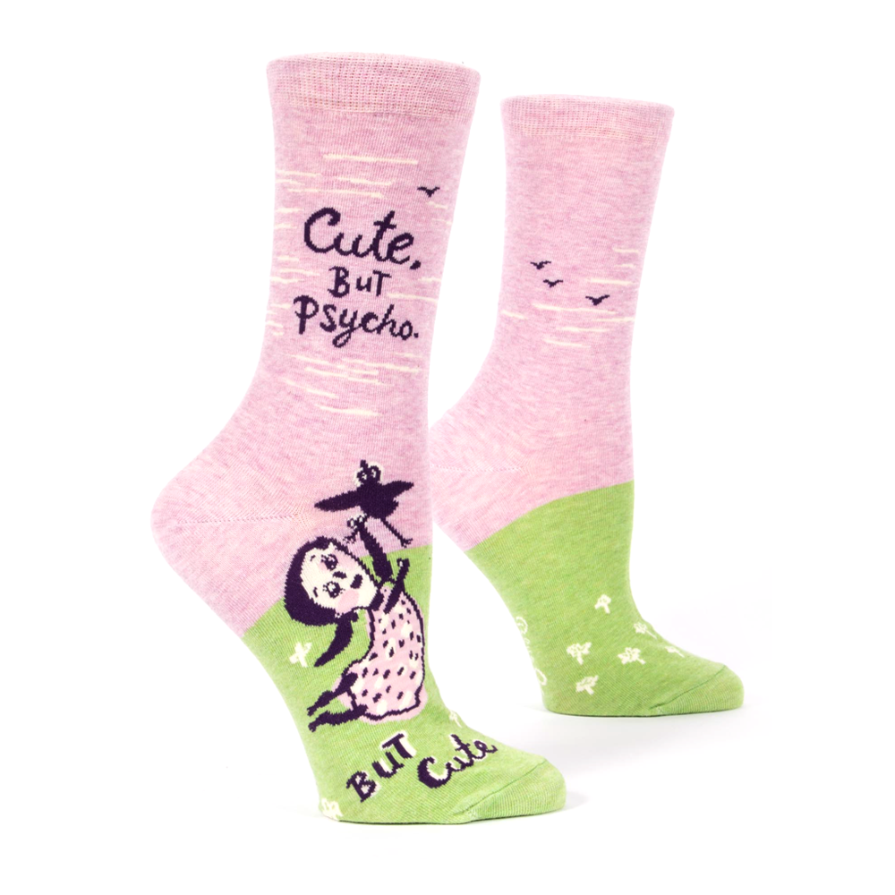 Blue Q Women's Socks Cute But Psycho