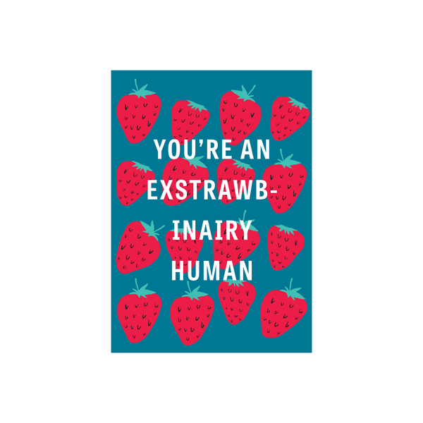 Iko Iko Fruit Pun Card Exstrawbinary