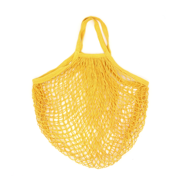 Iko Iko String Cotton Shopping Bag Bright Yellow