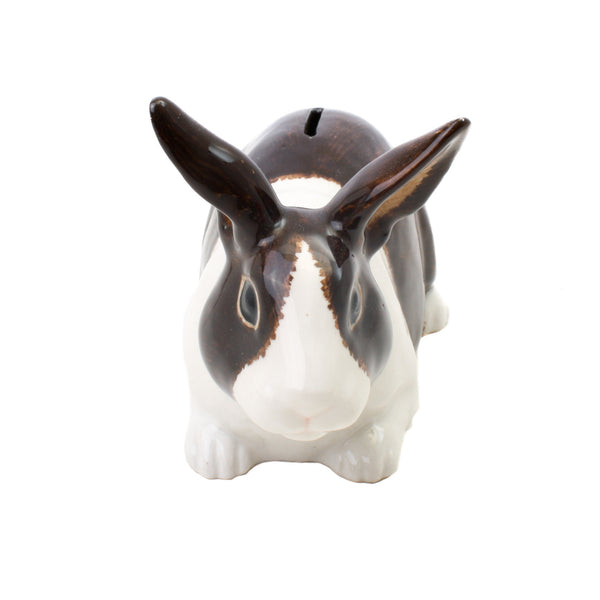 Quail Rabbit Money Box Brown White
