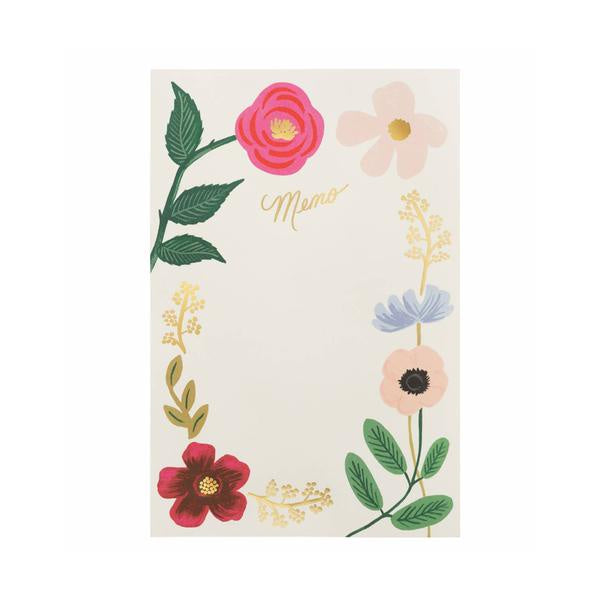 Rifle Paper Co Memo Notepad Wildflower