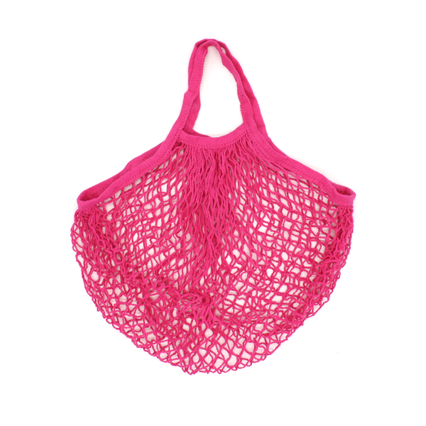 Iko Iko String Cotton Shopping Bag Bright Pink
