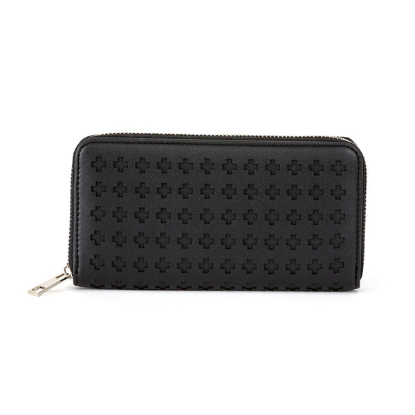 Stella + Gemma Wallet Cut Out Cross Black