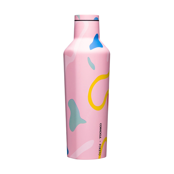 Corkcicle x Poketo Canteen Drink Bottle 16oz 475ml Pink Party