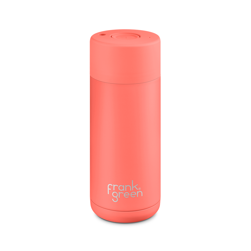 Frank Green Stainless Steel Smart Cup 16oz Living Coral