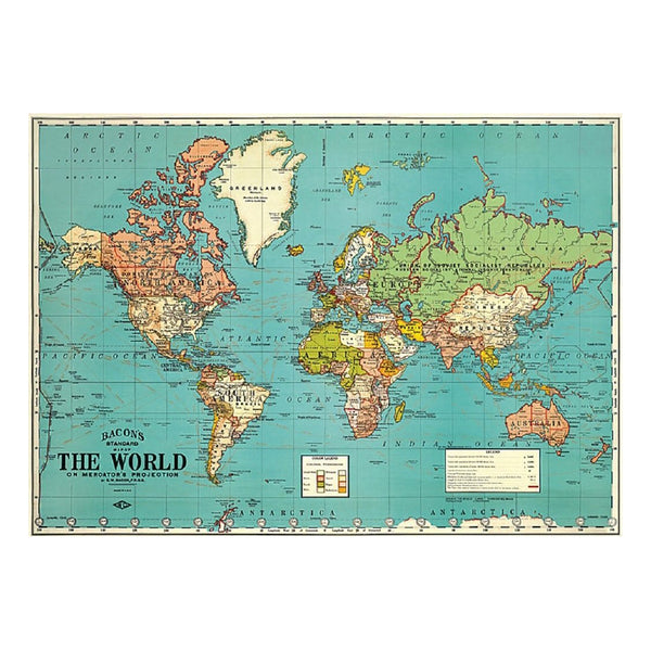 Cavallini Poster World Map Four