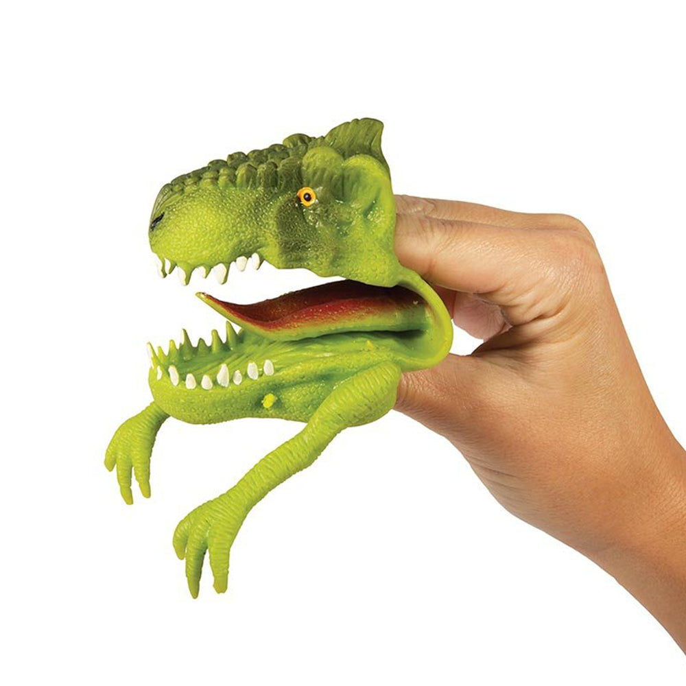Freaky Face T-Rex Hand Puppet Assorted