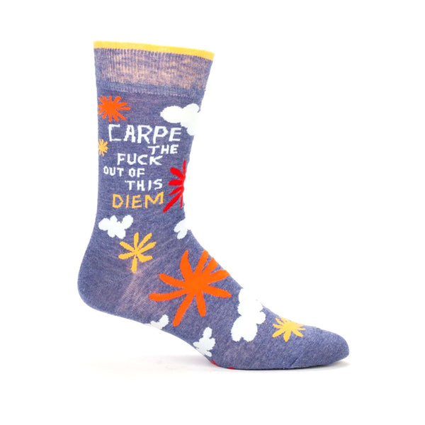 Blue Q Men's Socks Carpe Diem
