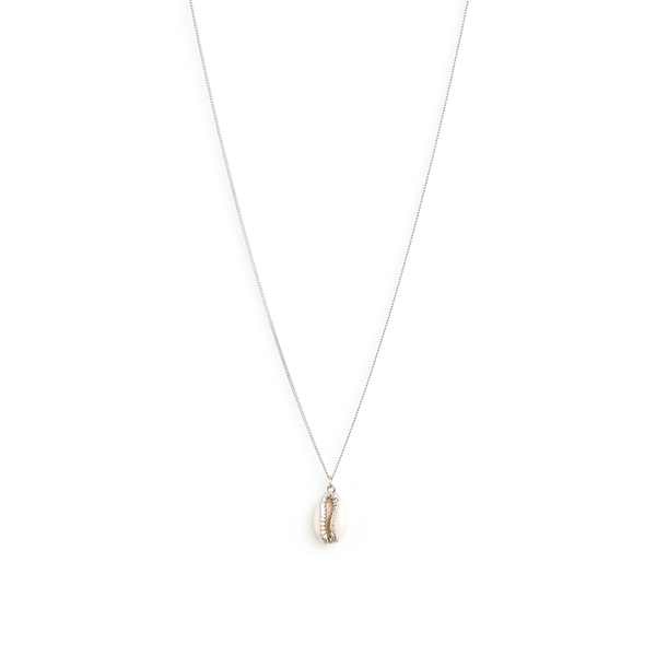 Stella + Gemma Necklace Coffee bean Seashell Silver