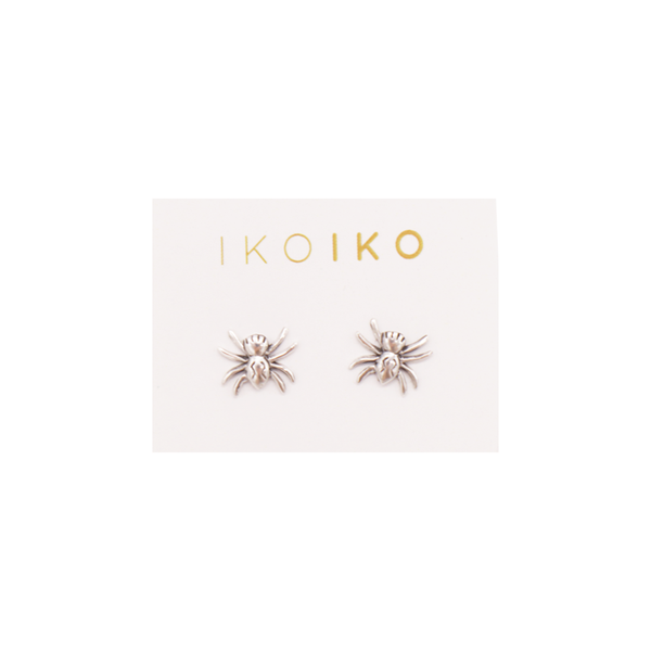 Iko Iko Studs Spider Silver
