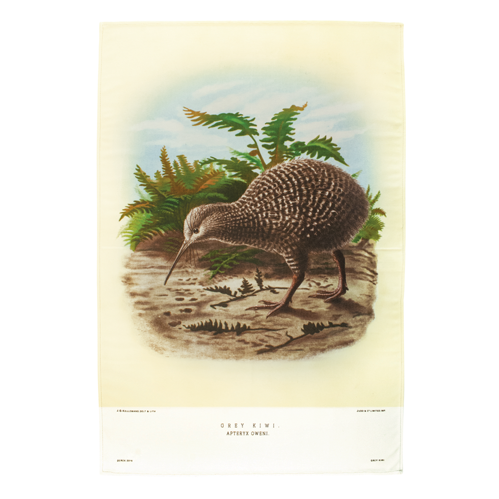 New Zealand Retro Tea Towel Kiwi