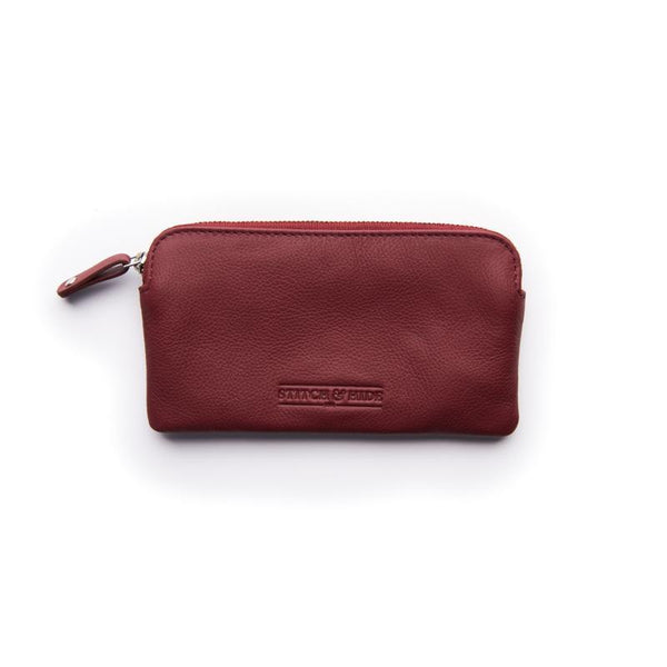 Stitch & Hide Leather Lucy Pouch Cherry