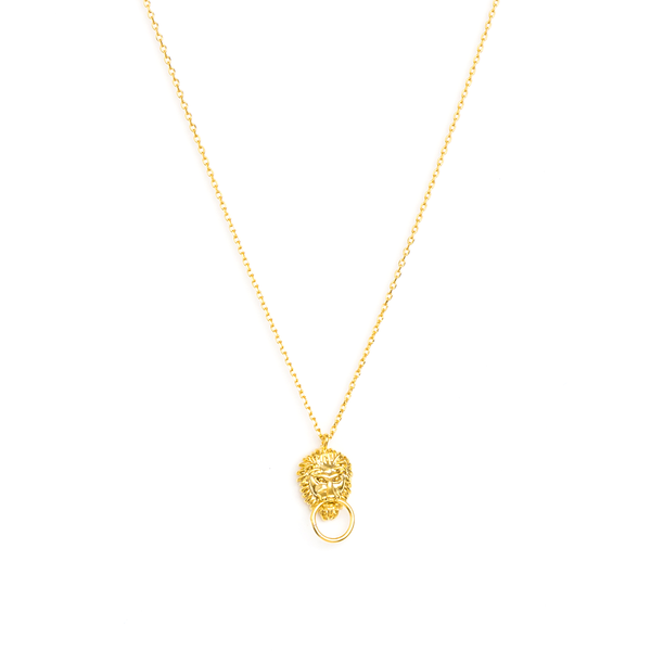Stella + Gemma Necklace Vintage Lion Gold