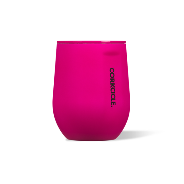Corkcicle Stemless 12oz Neon Pink