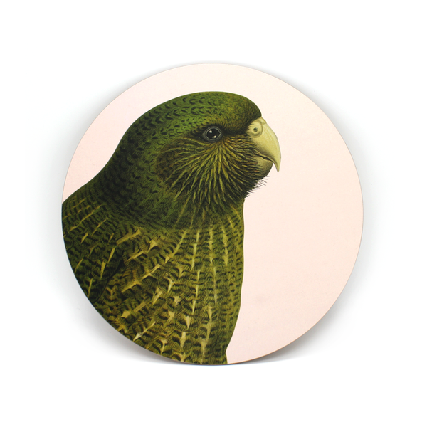 100% NZ Cork Backed Placemat Kakapo