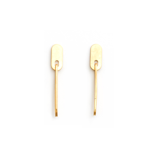 Stella + Gemma Earrings Long and Short Gold