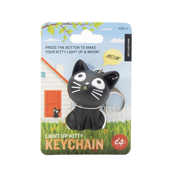 Light Up Meowing Kitty Keychain Assorted