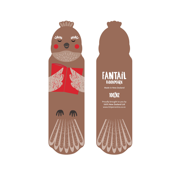 100% NZ Cuties Bookmark Fantail