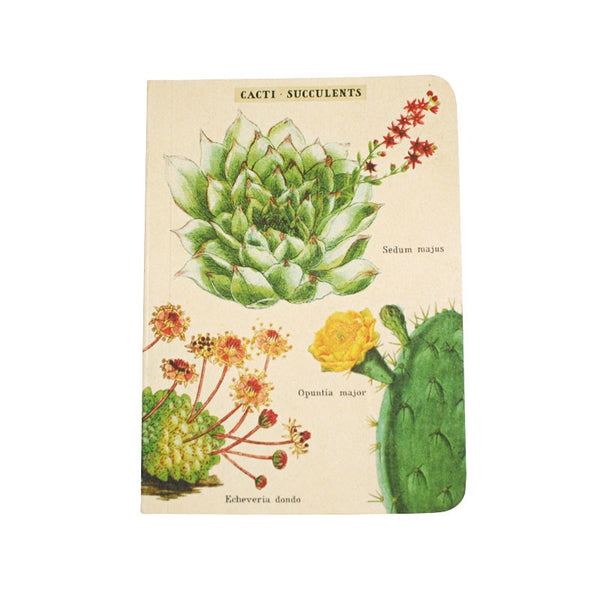 Cavallini Note Mini Notebook Succulents Lined